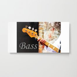 Bass Guitar neck , musical instrument  Metal Print