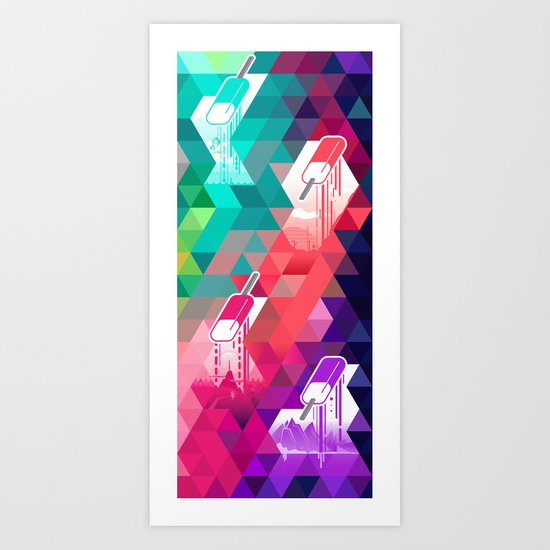 The Year in Popsicles Art Print