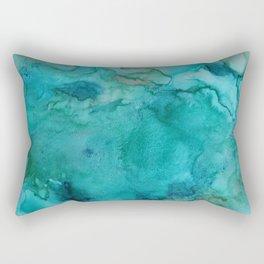 Aqua Tones Rectangular Pillow