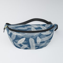 Blue Feathers Fanny Pack