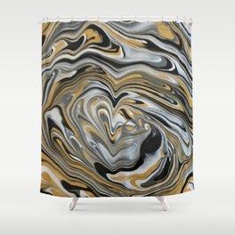 Melting Metals Shower Curtain