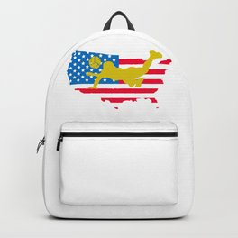 4th of July Volleyball US American Flag Backpack
