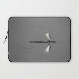 """Mirrored Egret"" by Murray Bolesta Laptop Sleeve"
