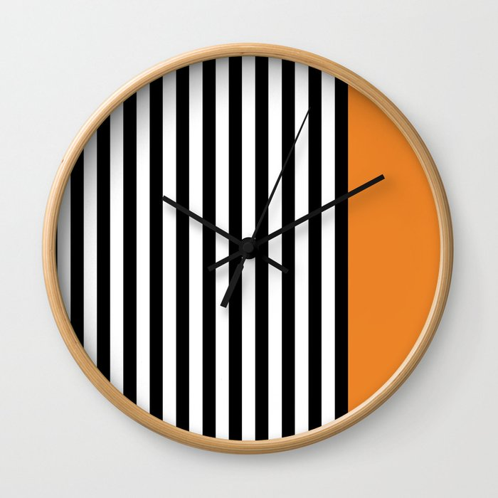 Liquorice allsorts, orange Wall Clock