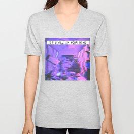 Vaporwave Aesthetic Style Emotional Dream Gift for sad boys and girls Unisex V-Neck
