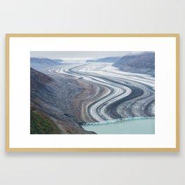 Frozen in time. Framed Art Print