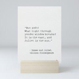 Romeo and Juliet, William Shakespeare, typed. Mini Art Print