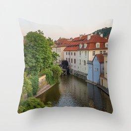 Water Mill, Kampa Island, Prague, Czech Republic Throw Pillow