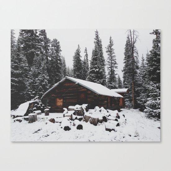 Winter Cabin Canvas Print