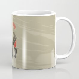 White Hair Girl on the Wind Coffee Mug
