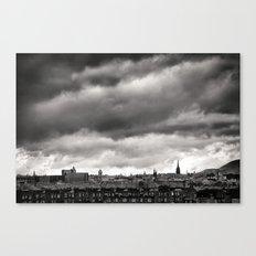 Edinburgh, Scotland (UK) in Black & White Canvas Print