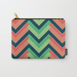Chevron Blue Carry-All Pouch