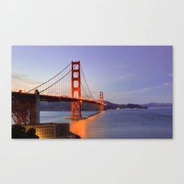 Golden Gate Bridge at dusk. Canvas Print