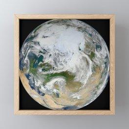 382. Blue Marble 2012 - Arctic View Framed Mini Art Print