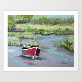 The Red Boat Chronicle Art Print