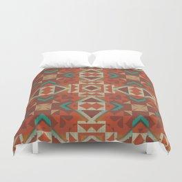 Native American Indian Tribal Mosaic Rustic Cabin Pattern Duvet Cover