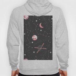 Universe with planets and stars seamless pattern, cosmos starry night sky 007 Hoody