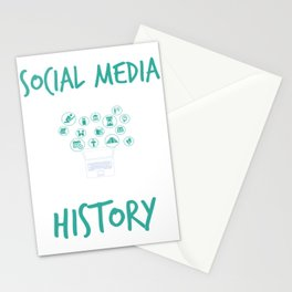 Social Media Can Wait Time For History Stationery Cards
