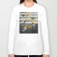 gangster Long Sleeve T-shirts featuring Gangster Pigeons by Wonder of Wild