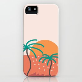 Topical Beach Sunset 2 iPhone Case