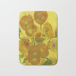 Van Gogh Sunflowers Bath Mat