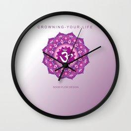 Y O G A for L I F E   Y O G A CORONAL CHAKRA   Y O G A mat CROWN CHAKRA Wall Clock