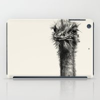 ostrich iPad Cases featuring Ostrich  by Ink Odyssey