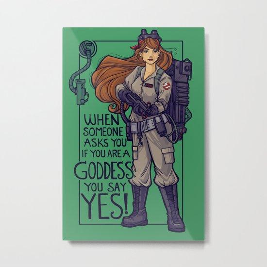 Ghostbuster Goddess Metal Print