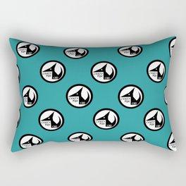 Crazy Fox - Little logos (Teal Edition) Rectangular Pillow
