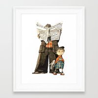 dad Framed Art Prints featuring Dad by Ekaterina Bauman
