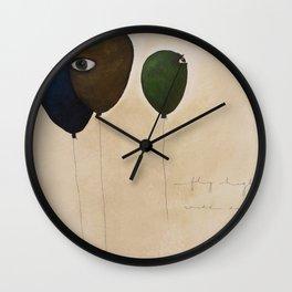 fly high wide eyes Wall Clock