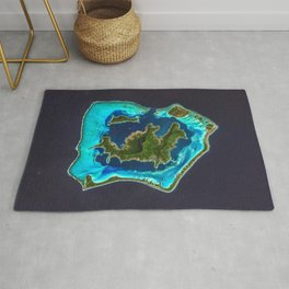 Bora Bora Satellite Image Rug