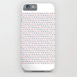 Stay Home Pattern iPhone Case
