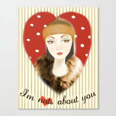 Camilla Willow: I'm Nuts About You Canvas Print