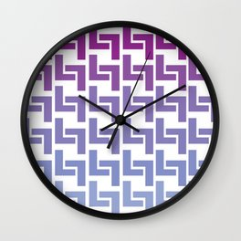 Monochromatic Purple L7 Wall Clock