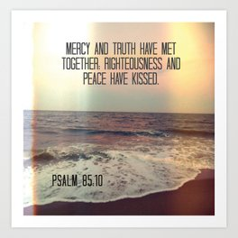 Bible Verse: Mercy and Truth Art Print