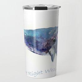Rigth Whale artwork Travel Mug