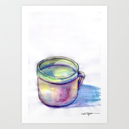 Pink Cup Art Print