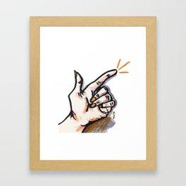 START! Framed Art Print