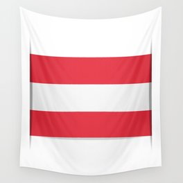 Flag of Austria. The slit in the paper with shadows.  Wall Tapestry