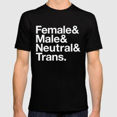 All Equal Genders Black LARGE Mens Fitted Tee