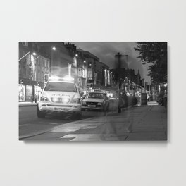 Police on Princes Street Metal Print