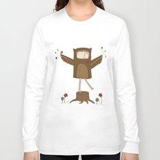 Little Owl Girl Long Sleeve T-shirt