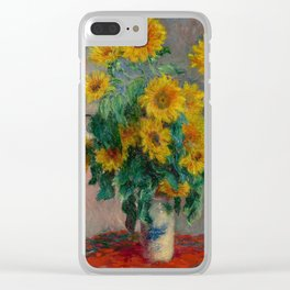 Bouquet of Sunflowers by Claude Monet Clear iPhone Case