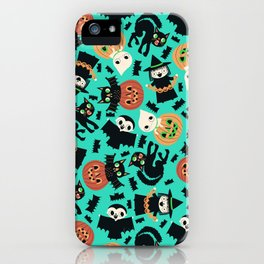 Halloween Gang blue iPhone Case