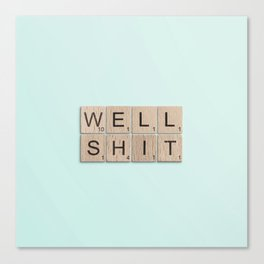 Well Shit Canvas Print