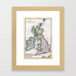 Vintage Map of British Isles (1780) Framed Art Print