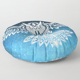 Heavenly Owl // Space Mosaic Floor Pillow