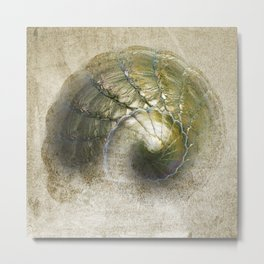 Abstract Snail Metal Print