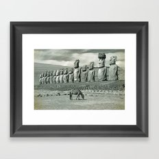 EASTER ISLAND VISTA Framed Art Print